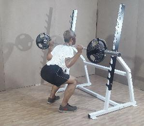 barbell rack gym bodybuilding weight training