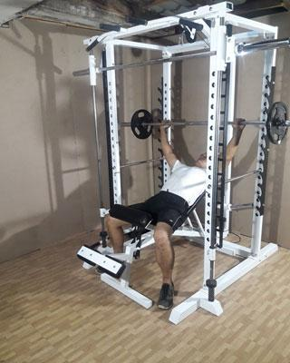 power tower incline bench press